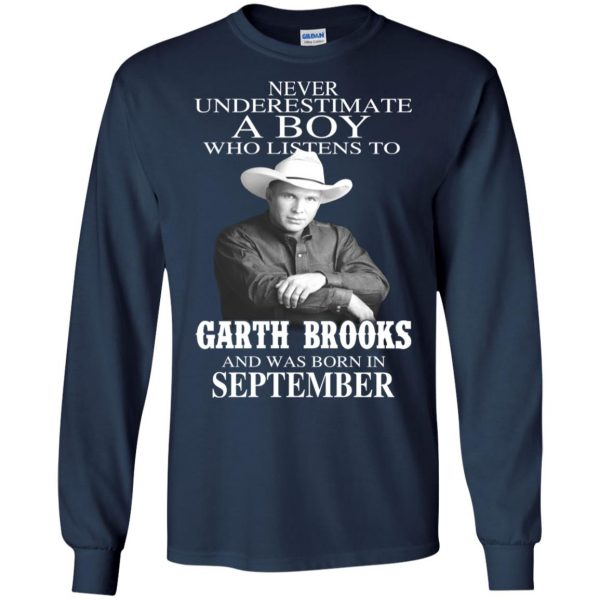 A Boy Who Listens To Garth Brooks And Was Born In September T-Shirts, Hoodie, Tank Apparel 8