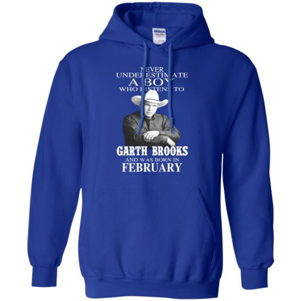 A Boy Who Listens To Garth Brooks And Was Born In February T-Shirts, Hoodie, Tank Apparel 12