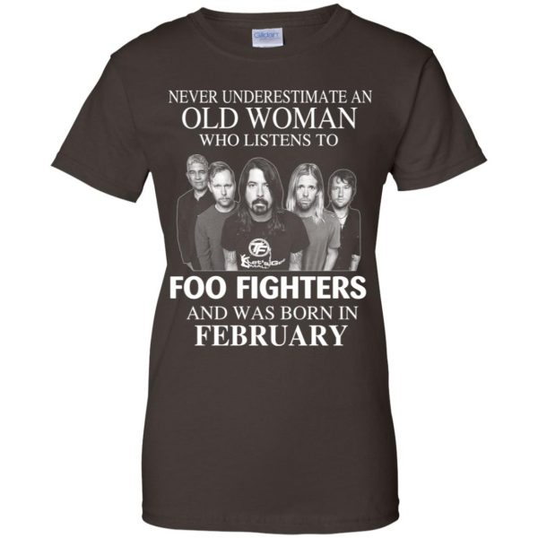 An Old Woman Who Listens To Foo Fighters And Was Born In February T-Shirts, Hoodie, Tank