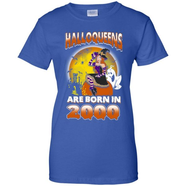 Halloqueens Are Born In 2000 Halloween T-Shirts, Hoodie, Tank Birthday Gift & Age 13