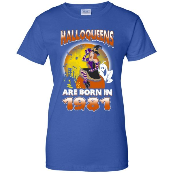 Halloqueens Are Born In 1981 Halloween T-Shirts, Hoodie, Tank