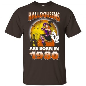 Halloqueens Are Born In 1980 Halloween T-Shirts, Hoodie, Tank Birthday Gift & Age 2