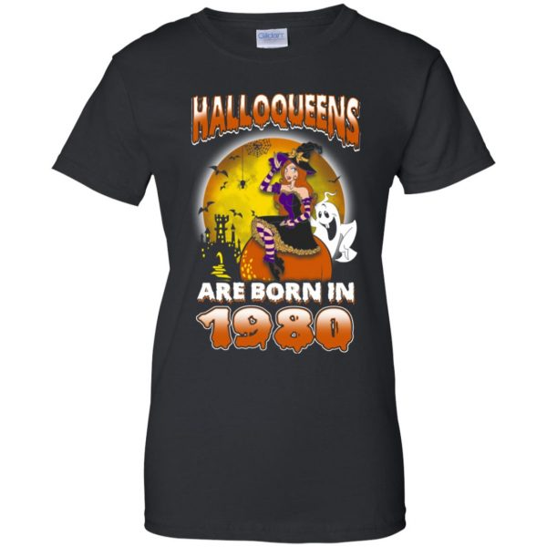 Halloqueens Are Born In 1980 Halloween T-Shirts, Hoodie, Tank Birthday Gift & Age