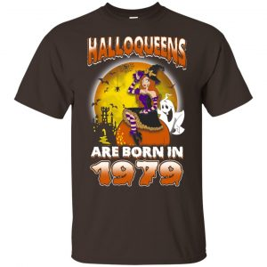 Halloqueens Are Born In 1979 Halloween T-Shirts, Hoodie, Tank Birthday Gift & Age