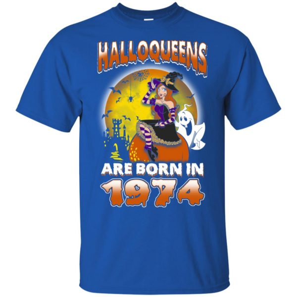 Halloqueens Are Born In 1974 Halloween T-Shirts, Hoodie, Tank Birthday Gift & Age