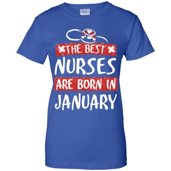 The Best Nurses Are Born In January Birthday T-Shirts, Hoodie, Tank