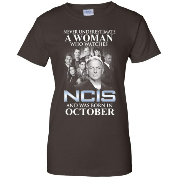 A Woman Who Watches NCIS And Was Born In October T-Shirts, Hoodie, Tank Apparel