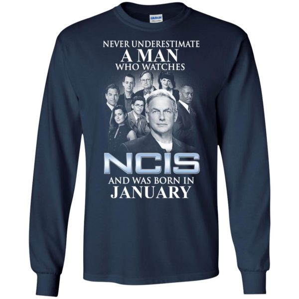 A Man Who Watches NCIS And Was Born In January T-Shirts, Hoodie, Tank