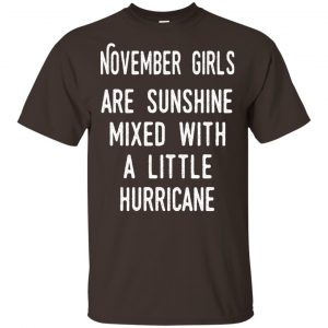 November Girls Are Sunshine Mixed With A Little Hurricane T-Shirts, Hoodie, Tank
