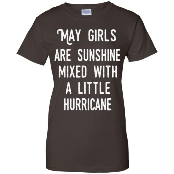 May Girls Are Sunshine Mixed With A Little Hurricane T-Shirts, Hoodie, Tank