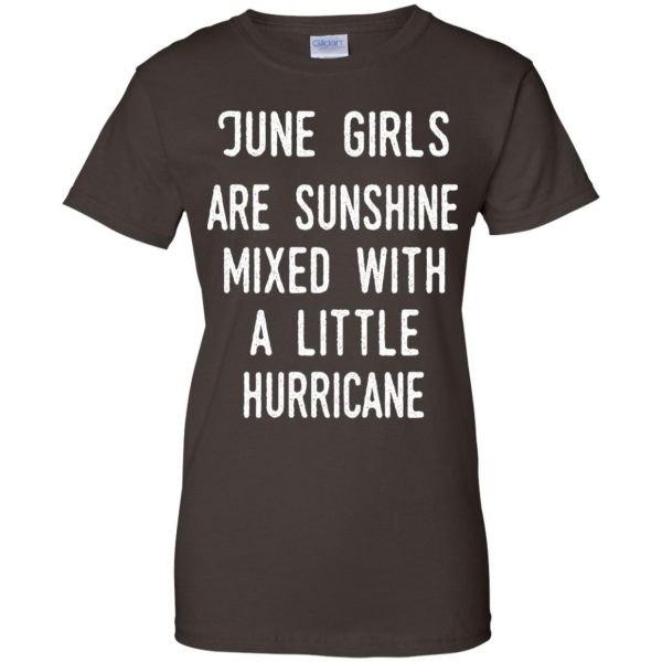 June Girls Are Sunshine Mixed With A Little Hurricane T-Shirts, Hoodie, Tank Apparel 12