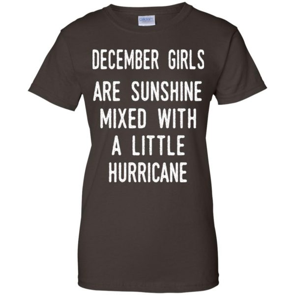 December Girls Are Sunshine Mixed With A Little Hurricane T-Shirts, Hoodie, Tank Apparel