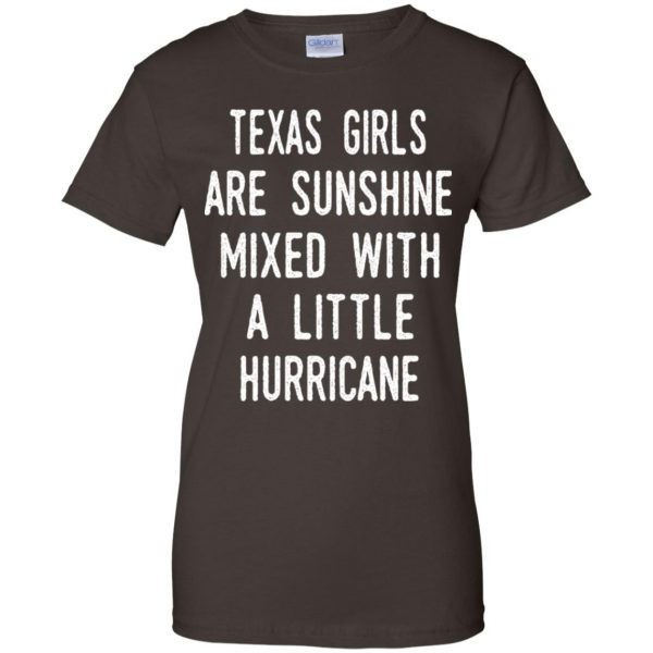 Texas Girls Are Sunshine Mixed With A Little Hurricane T-Shirts, Hoodie, Tank Apparel
