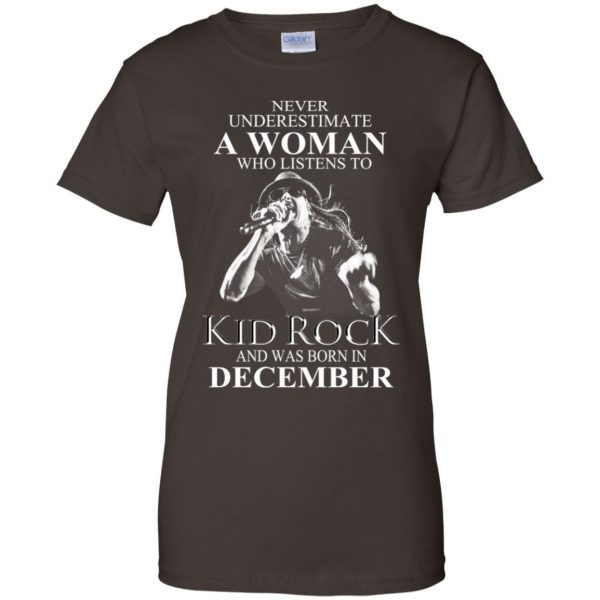 A Woman Who Listens To Kid Rock And Was Born In December T-Shirts, Hoodie, Tank Apparel 12
