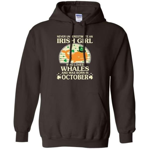 An Irish Girl Who Loves Whales And Was Born In October T-Shirts, Hoodie, Tank Apparel