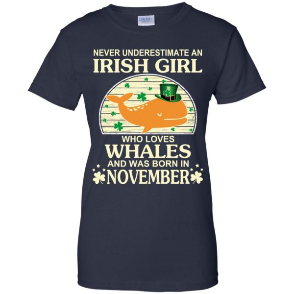 An Irish Girl Who Loves Whales And Was Born In November T-Shirts, Hoodie, Tank Apparel