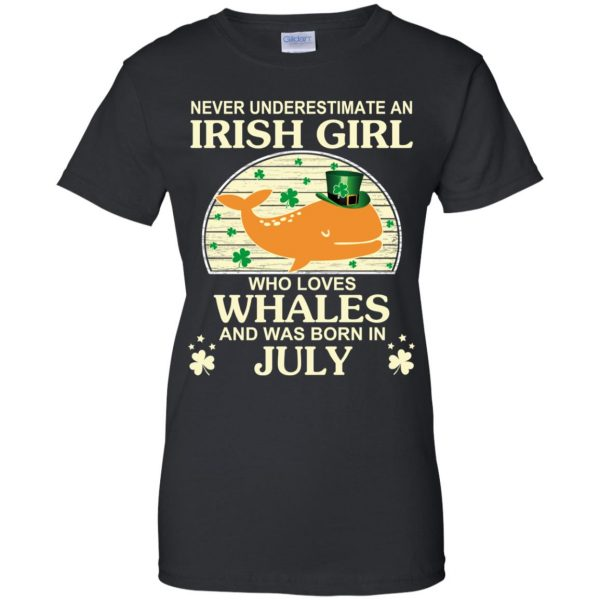 An Irish Girl Who Loves Whales And Was Born In July T-Shirts, Hoodie, Tank Apparel
