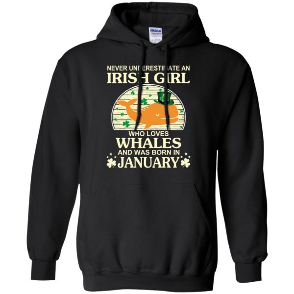 An Irish Girl Who Loves Whales And Was Born In January T-Shirts, Hoodie, Tank Apparel