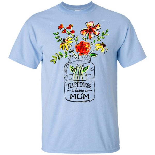 Happiness Is Being A Mom Flower T-Shirts, Hoodie, Tank