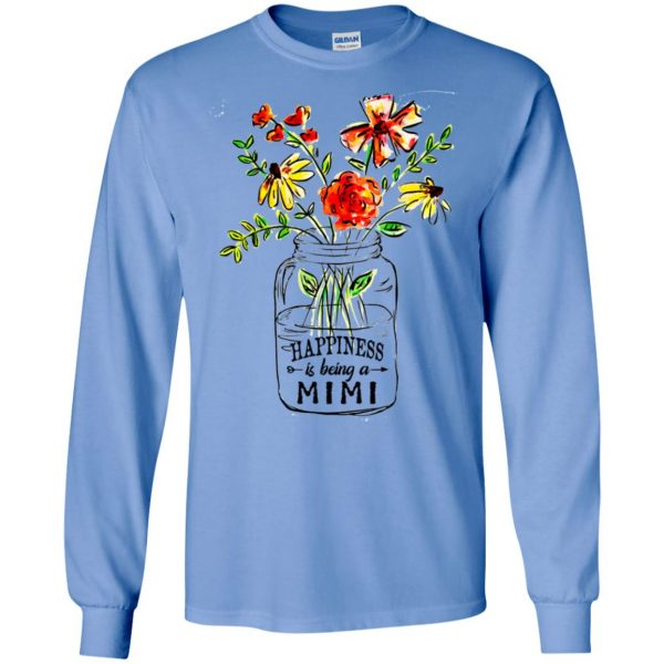 Happiness Is Being A Mimi Flower T-Shirts, Hoodie, Tank Apparel