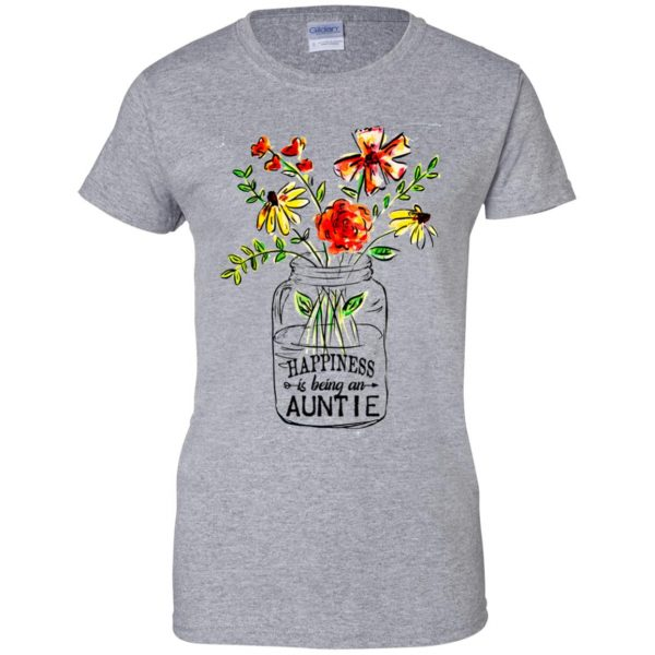 Happiness Is Being A Auntie Flower T-Shirts, Hoodie, Tank Apparel