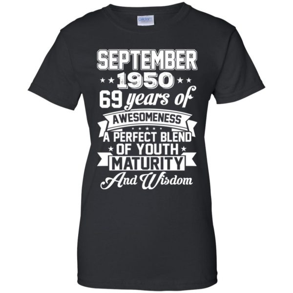 Vintage Awesome September 1950 69th Birthday Gift T-Shirts, Hoodie, Tank
