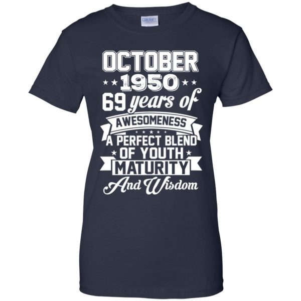 Vintage Awesome October 1950 69th Birthday Gift T-Shirts, Hoodie, Tank Apparel