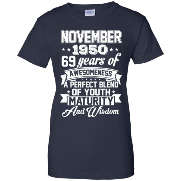 Vintage Awesome November 1950 69th Birthday Gift T-Shirts, Hoodie, Tank Apparel