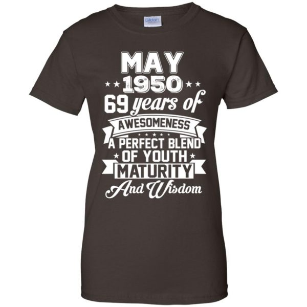 Vintage Awesome May 1950 69th Birthday Gift T-Shirts, Hoodie, Tank