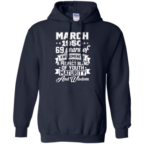 Vintage Awesome March 1950 69th Birthday Gift T-Shirts, Hoodie, Tank Apparel