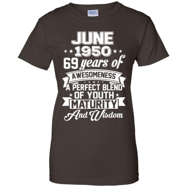 Vintage Awesome June 1950 69th Birthday Gift T-Shirts, Hoodie, Tank