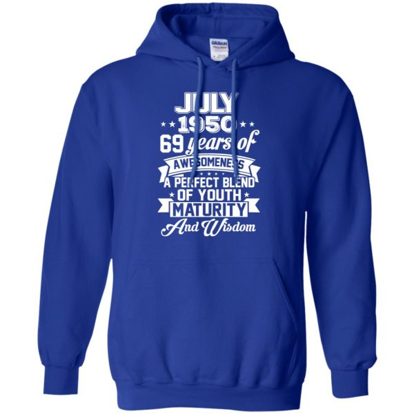 Vintage Awesome July 1950 69th Birthday Gift T-Shirts, Hoodie, Tank