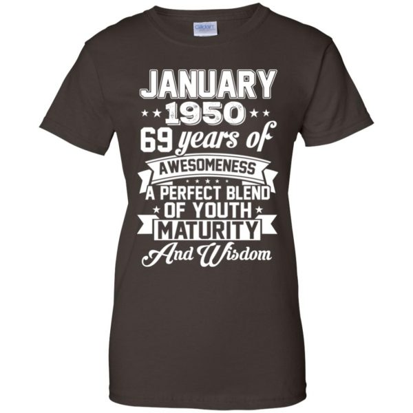 Vintage Awesome January 1950 69th Birthday Gift T-Shirts, Hoodie, Tank