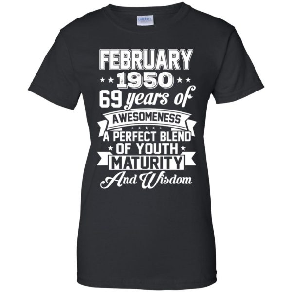 Vintage Awesome February 1950 69th Birthday Gift T-Shirts, Hoodie, Tank