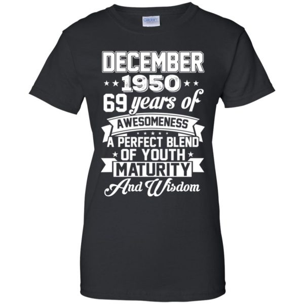 Vintage Awesome December 1950 69th Birthday Gift T-Shirts, Hoodie, Tank Apparel