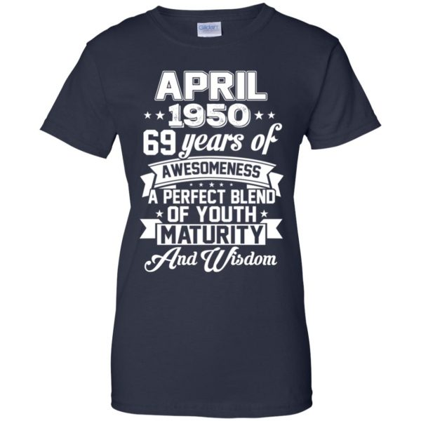 Vintage Awesome April 1950 69th Birthday Gift T-Shirts, Hoodie, Tank Apparel