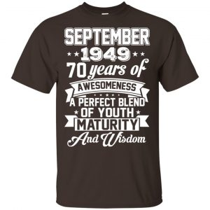 Vintage Awesome September 1949 70th Birthday Gift T-Shirts, Hoodie, Tank