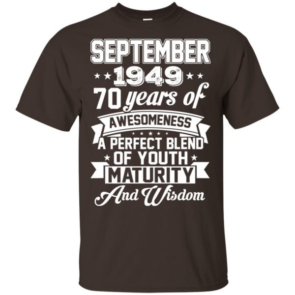 Vintage Awesome September 1949 70th Birthday Gift T-Shirts, Hoodie, Tank Apparel