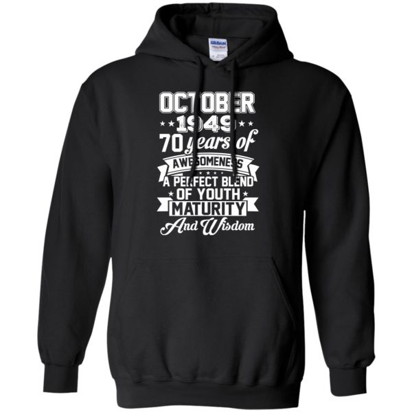 Vintage Awesome October 1949 70th Birthday Gift T-Shirts, Hoodie, Tank Apparel
