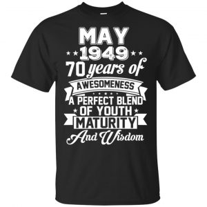 Vintage Awesome May 1949 70th Birthday Gift T-Shirts, Hoodie, Tank