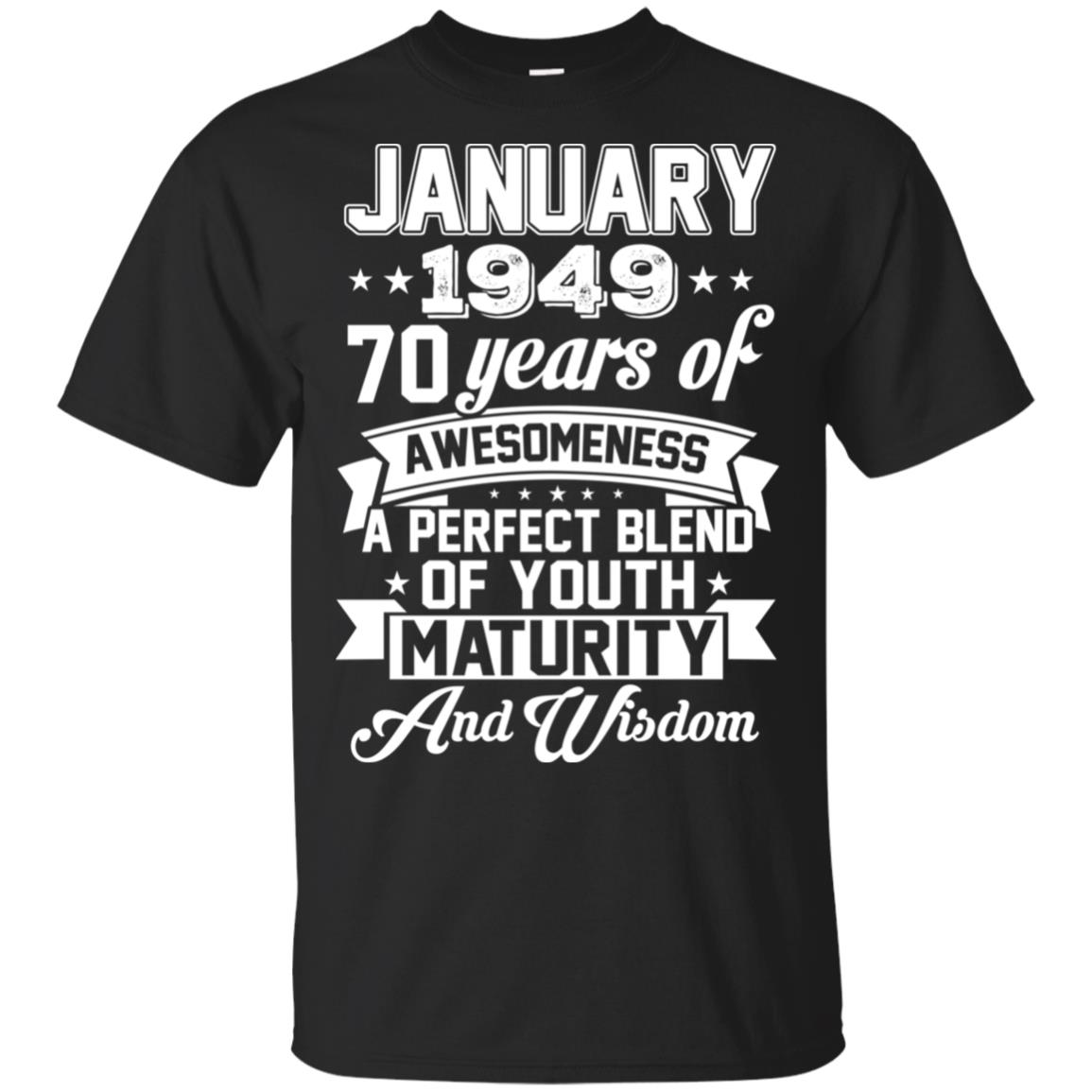 26d33a98 Vintage Awesome January 1949 70th Birthday Gift T-Shirts, Hoodie, Tank |  0STEES - Stuff That Uniquely For You