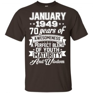 Vintage Awesome January 1949 70th Birthday Gift T-Shirts, Hoodie, Tank