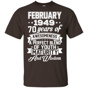 Vintage Awesome February 1949 70th Birthday Gift T-Shirts, Hoodie, Tank