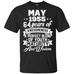 Vintage Awesome May 1955 64th Birthday Gift T-Shirts, Hoodie, Tank Apparel