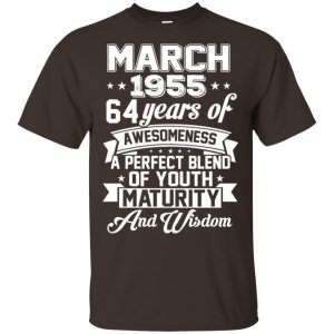 Vintage Awesome March 1955 64th Birthday Gift T-Shirts, Hoodie, Tank Apparel
