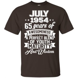 Vintage Awesome July 1954 65th Birthday Gift T-Shirts, Hoodie, Tank Apparel