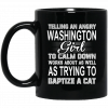 Telling An Angry New York Girl To Calm Down Works About As Well As Trying To Baptize A Cat Mug Coffee Mugs