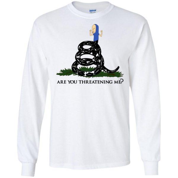 Gadsden Flag Beavis: Are You Threatening Me T-Shirts, Hoodie, Tank Apparel 7