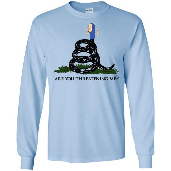 Gadsden Flag Beavis: Are You Threatening Me T-Shirts, Hoodie, Tank Apparel 8