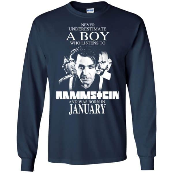 A Boy Who Listens To Rammstein And Was Born In January T-Shirts, Hoodie, Tank
